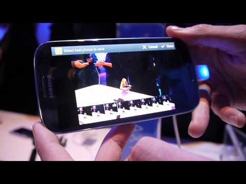 Samsung Galaxy S III: Burst Shot/Best Photo camera features demo