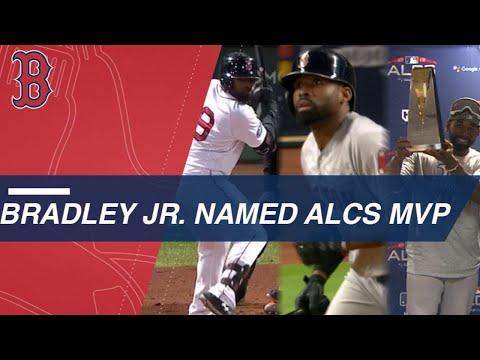 Video: Bradley Jr. is named ALCS MVP after stellar series
