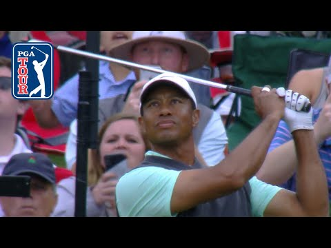 Tiger Woods nearly aces the 17th Island Green at THE PLAYERS 2019