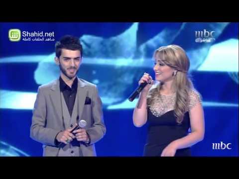 """برواس حسين تغني بالكردي مع زوجها في """"Arab Idol"""""""