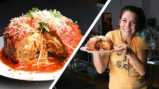 Behind The Scenes: Giant Spaghetti-Stuffed Meatball by Tasty