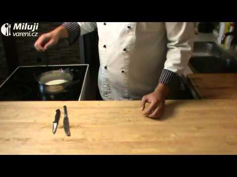 Pannacotta s jahodovým pyré