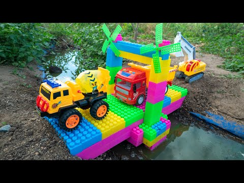 Learn Colors with Construction Trucks #shape for Kids - Water Tank Trucks for Chidlren