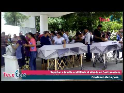 Sepultan a familia acribillada el sábado en Coatzacoalcos