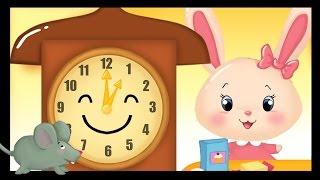 http://www.mondedestitounis.fr/ Hickory, Dickory Dock en français ! Petite comptine pour apprendre l'heure aux enfants. Comptines et chansons Titounis Hickory ...