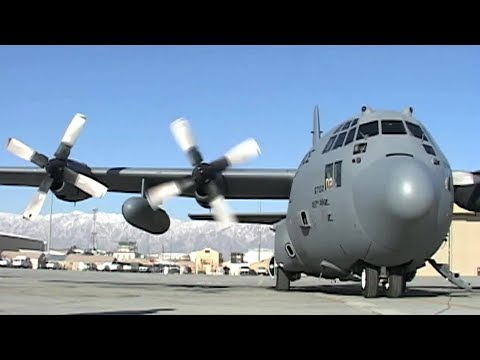 C-130 Hercules Engine Start Up, Take Off.