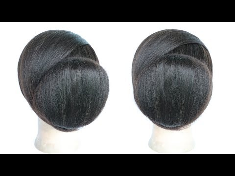 Hairstyles for short hair - chignon hairstyle  elegant hairstyle  cute hairstyles  simple hairstyle  elegant updo