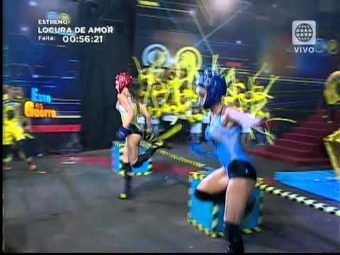 Angie Arizaga sufrió aparatosa caída en el juego