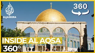 Inside al-Aqsa: A 360° tour of Jerusalem's holiest mosqueExperience Islam's third holiest site in more detail than ever before through this 4K, ultra-high definition experience. Millions of feet have walked the grounds of al-Aqsa Mosque compound, which has long been a flashpoint for the Israeli-Palestinian conflict. Now you can join them. Full project: aljazeera.com/aqsa360Subscribe to our channel  http://bit.ly/AJSubscribeFollow us on Twitter https://twitter.com/AJEnglishFind us on Facebook https://www.facebook.com/aljazeeraCheck our website:  http://www.aljazeera.com/
