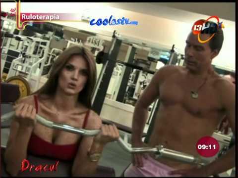 Mari Tere Alessandri Sesion Ejercicio Tetotas en Lycras Rojas HD