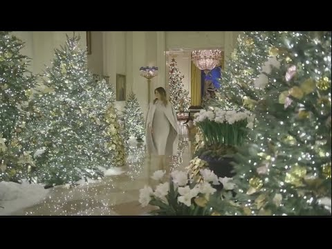 Melania Trump reveals patriotic White House Christmas decorations