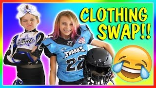 GIRL VS BOY CLOTHES SWAP CHALLENGE   We Are The Davises
