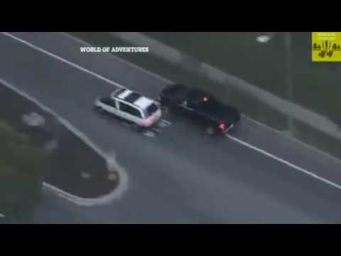 California Thief Incredible Driving To Escape | Video Recording From A Police Helicopter
