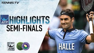 Watch highlights of Roger Federer and Alexander Zverev advancing to the Gerry Weber Open final on Saturday. Watch live matches at tennistv.com.