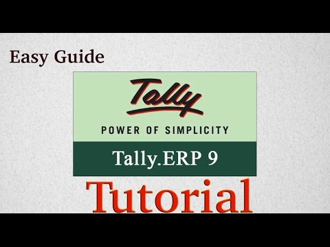 Tally ERP 9 Tutorial English Easy Guide Basics