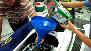 8. Jetski oil change in under 9 minutes