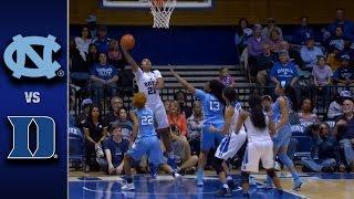 North Carolina vs. Duke Women's Basketball Highlights (2016-17)