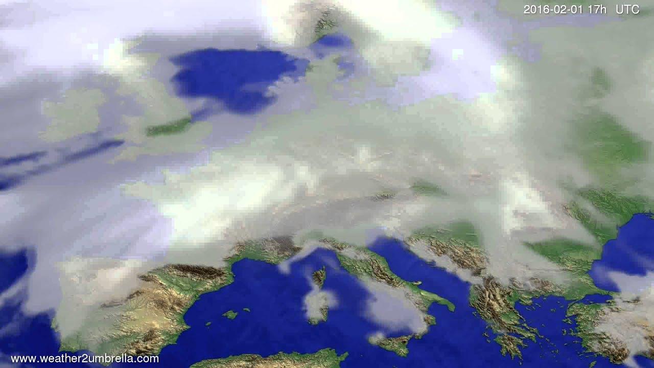 Cloud forecast Europe 2016-01-30