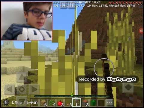 Kardeşime Minecraft oynamayı öğretiyorum