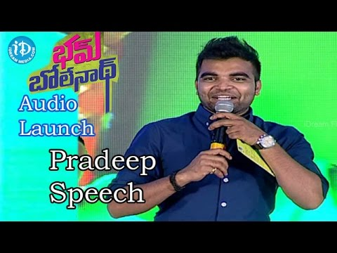 Video Pradeep Speech @Bham Bolenath Audio Launch |Navdeep | Naveen Chandra download in MP3, 3GP, MP4, WEBM, AVI, FLV January 2017