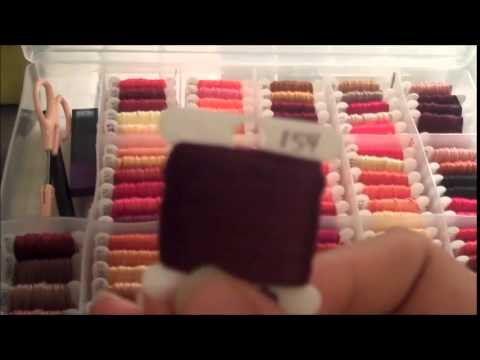 (DMC Tips) Cross Stitch #6 | Floss Organization