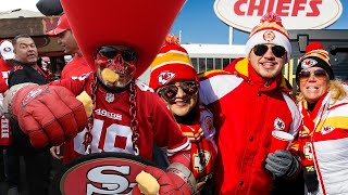 Chiefs & 49ers Fans BANNED From Tailgating Pre Super Bowl At Hard Rock Stadium by Obsev Sports