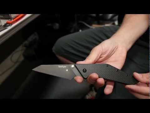 "Kershaw Tilt Knife w/ Carbon Fiber (4"" Composite Plain) 4001"