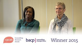 The CPCAB Counselling Research Award winners for 2015