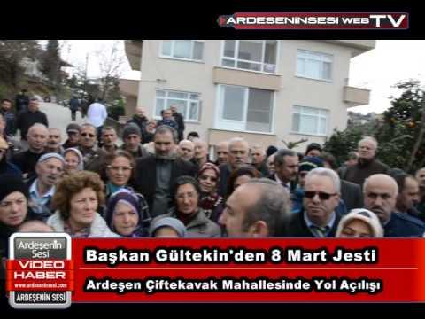 Ardeşen Çiftekavak Mahallesinde Yol Açılışı Başkan Gültekin'den 8 Mart Jesti