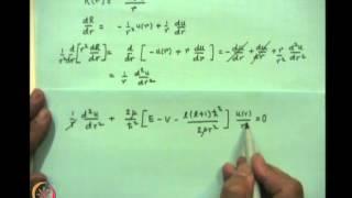 Mod-06 Lec-19 The Hydrogen Atom Problem