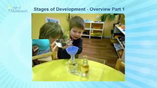 Montessori saw the stages of development as