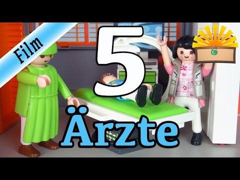 5 ARTEN von Ärzten! Playmobil Film deutsch | Beim Arzt, im Krankenhaus und der Kinderklinik