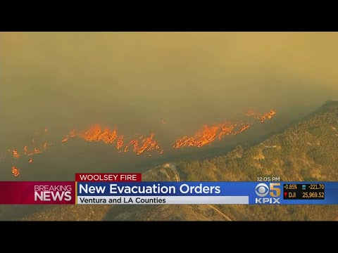 Two Fires Force Evacuations In Ventura And LA County