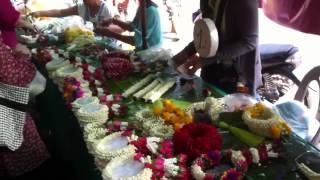 Flower, Fruit And Food Market In Bangkok