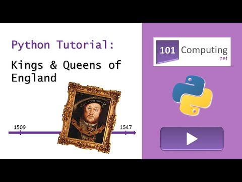 Kings And Queens Of England - Python Tutorial