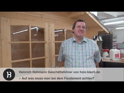 Worauf muss man beim Fundament für ein Gartenhaus achten? | holz-blech.de