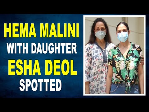 Hema Malini With Daughter Esha Deol snapped in the city