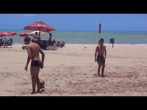 Renê do Sport Recife. em Lance de Futevôlei em Boa Viagem