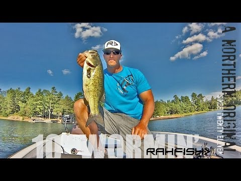 """Fishing a """"Texas rig"""" worm – """"Flipping for Largemouth Bass"""""""