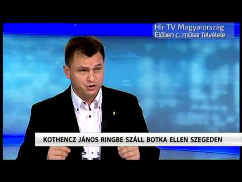 Kothencz János polgármesterjelölt (FIDESZ-KDNP) a HÍR TV-ben beszélt elképzeléseiről (2014.július)