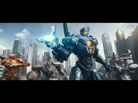 Pacific Rim: Uprising (2018) - Final battle - Part 1 - Only action [4K]