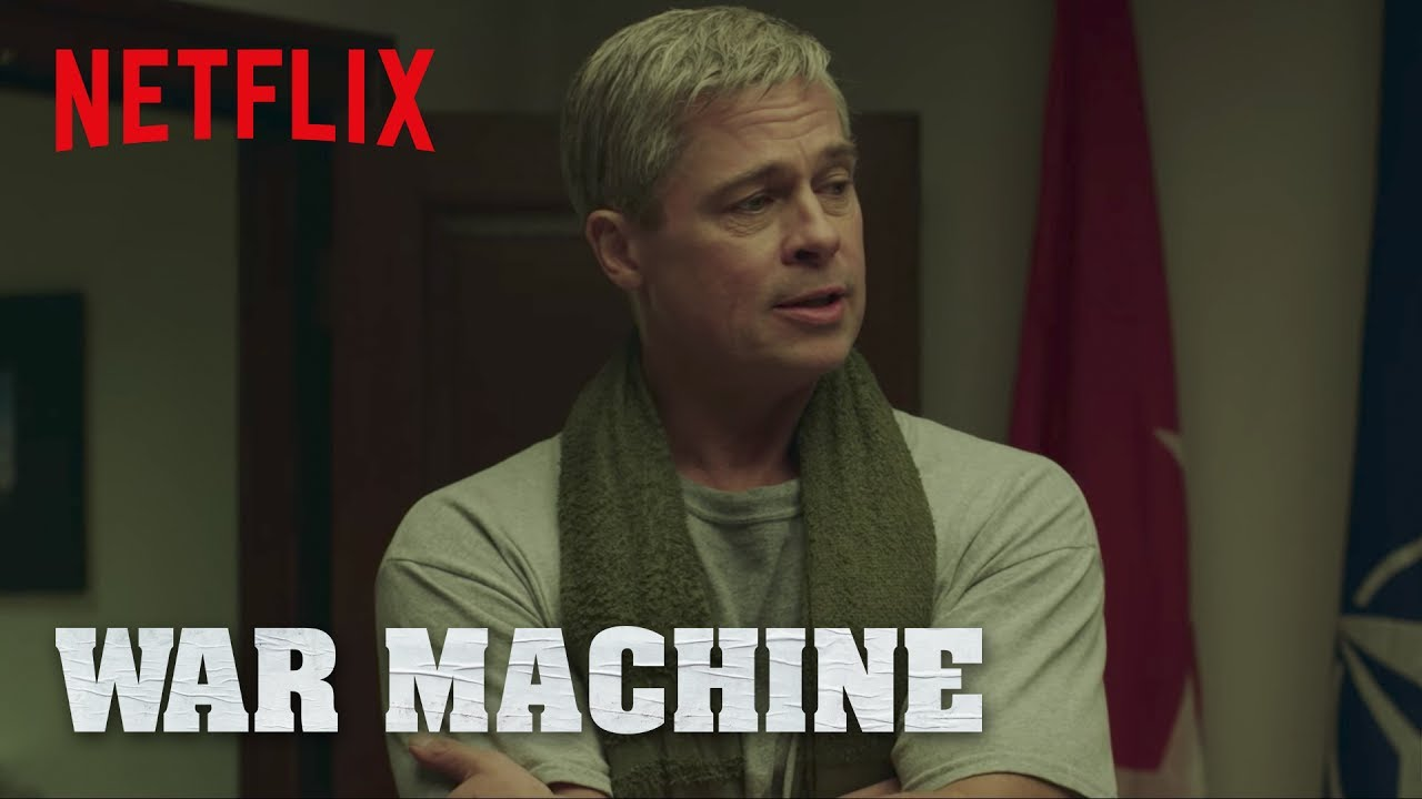 Brad Pitt is off to battle in a Story about the Politics of War in David Michôd's 'War Machine' (Clip) Satire with an All-Star Cast