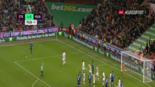 Stoke City - Manchester United 1-1 Il 250° gol di Rooney