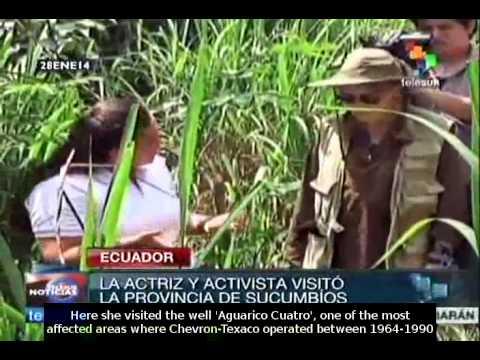 "cuador: Mia Farrow joins the campaign ""The Dirty Hand of Chevron"""