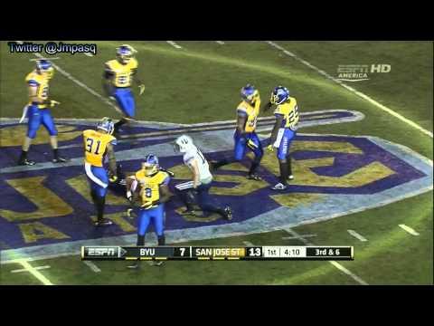 Cody Hoffman vs Idaho/San Jose State 2012 video.