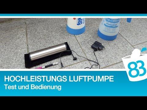 ChiliTec Hochleistungs Luftpumpe mit LiIon Akku Display Druckeinstellung KFZ Adapter Gloria Kwazar