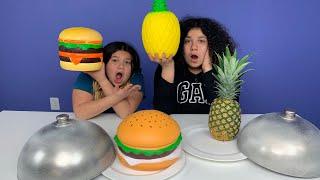 Giant Squishy Food VS Real Food Challenge!! NEW SQUISHIES!!