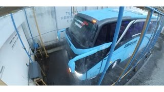 Video last stage bus body at caroseries   bus rain test   leak test   adiputro bus plant MP3, 3GP, MP4, WEBM, AVI, FLV Juni 2018