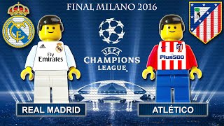 Video Champions League Final 2016 • Real Madrid vs Atletico Madrid • goal highlights Lego Football film MP3, 3GP, MP4, WEBM, AVI, FLV November 2018