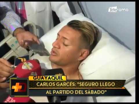 """Carlos Garcés: """"Seguro llego al partido del sábado"""""""